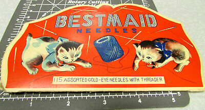 Vintage BESTMAID Sewing Needle Book, around 60 left in booklet, great graphics