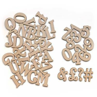 Individual Mini Small Belshaw Wooden MDF Letters & Numbers Alphabet 3mm Thick