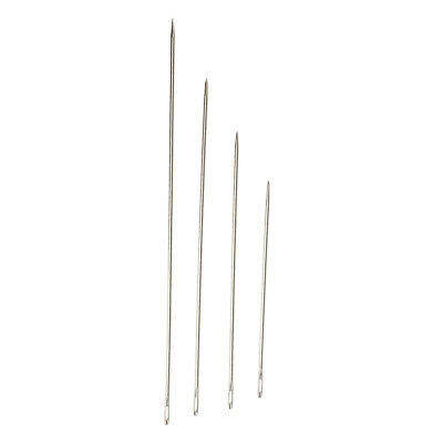 4 Stainless Steel Hand Sewing Needles Assorted Sizes for Sacks Dolls Sewing