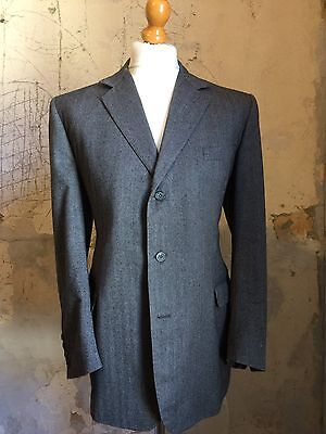 vintage Bespoke Grey Three 3 Piece Suit Size 44
