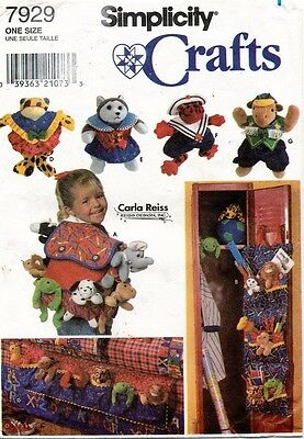 """Simplicity Accessories for 9"""" Beanbag Animals Pattern 7929 UNCUT"""