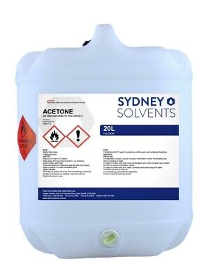 Acetone 100% Strength Acrylic Nail Polish Remover Fibre Glass Cleaner 20 Litre
