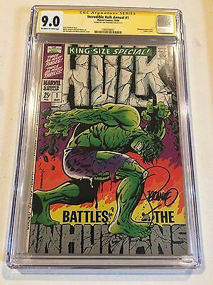 The Incredible Hulk  King Size Special #1 Cgc Ss 9.0