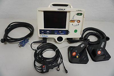Physio Control Lifepak 20 Biphasic 3 Lead AED & Pacing with Paddles