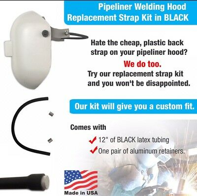 PIPELINER Welding Hood Replacement Black STRAP Kit By WELDLINE