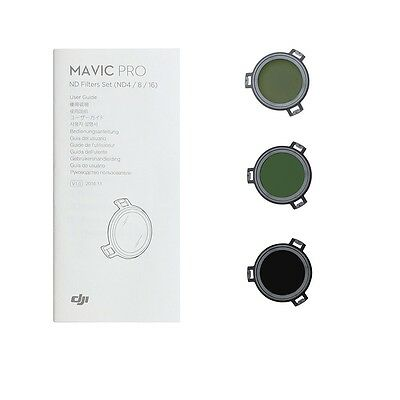 Genuine DJI Mavic ND Filters Set (ND4/8/16) for Mavic Pro Camera Drone Filter