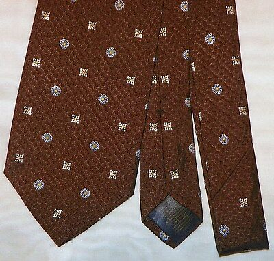 BROOKS BROTHERS [ MAKERS & MERCHANTS ] men's tie 100% Silk Made in USA