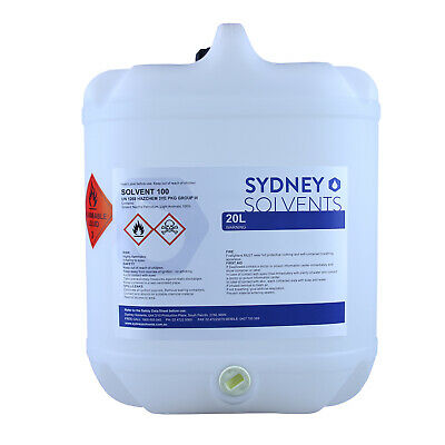 Solvent 100 Surface Coatings Fuel Additive Industrial Cleaning Agent 20 Litre