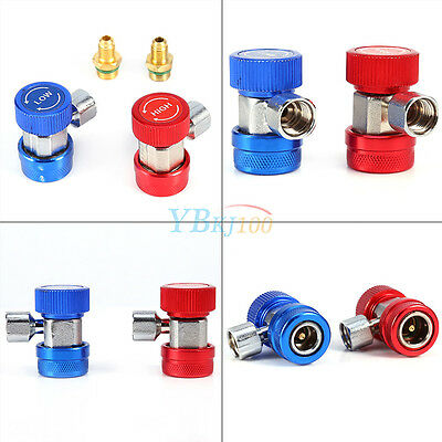 A/C Air Condition Quick Coupler Adapter High Low Manifold Connector R134A Hot ES