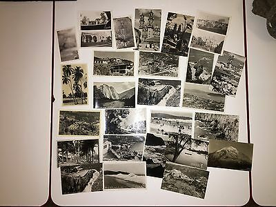 Antique Mexican postcards 1920s-40s Lot of 22 unmarked postcards + 6 photos