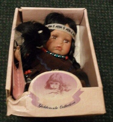 Goldenvale Porcelain Doll - Aileen - American Indian - Nib - Limited Edition