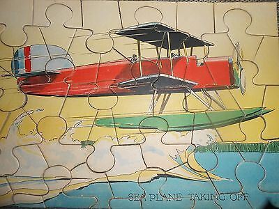 Jigsaw puzzles, children's antique 1930's airplanes and aircraft - six puzzles