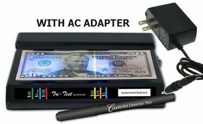 Black Light Counterfeit Currency Detector With  AC Adapter