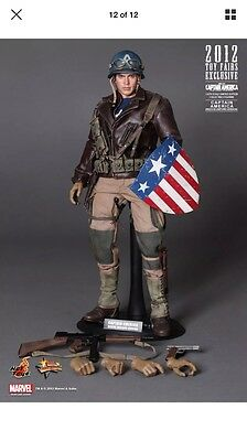 2012 Toy Exclusive Hot Toys 1/6 Captain America Mms180 Rescue Uniforn Figure