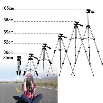 Flexible Portable Aluminum Tripod Stand With Bag For Canon Nikon Camera New