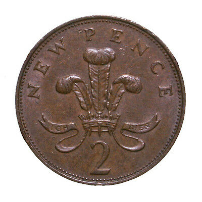 1971 Great Britain 2 New Pence Actual Photos Shown *FREE USA SHIPPING*