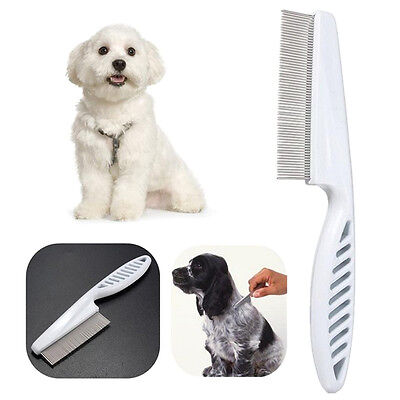 Cat Dog Cleaning Tool Dust Removal Pet Comb Alloy Pin Plastic Hair Lice Brush
