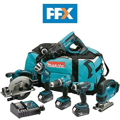 Makita DLX6017 18v LXT 6 Piece Cordless Combo Power Tool Kit 3 x 3.0Ah