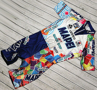 MAPEI QUICK STEP COLNAGO - SPORTFUL - vintage cycling skin suit SKINSUIT size XL