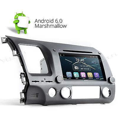 1024x600 HD Android 6.0 Car DVD Player Radio Stereo GPS Nav 3G F For Honda Civic