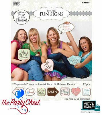 24 PHRASES HEN PARTY PHOTO BOOTH SIGNS Bridal Shower Selfie Photo Props 270100