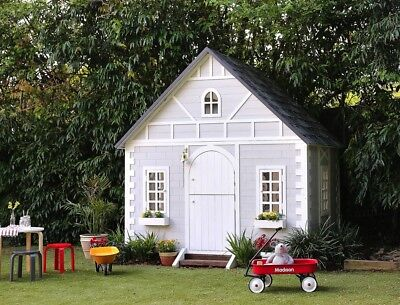 Hip Kids Alice Cubby Play House Backyard Large Wooden For Kids Children
