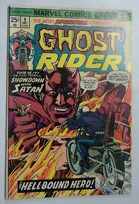 Ghost Rider #9 Very Fine+ 1974 Marvel Comics Off White To White Pages