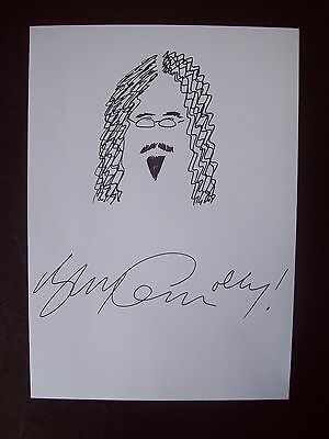 Billy Connolly Signed Original Ink Sketch Drawing coa