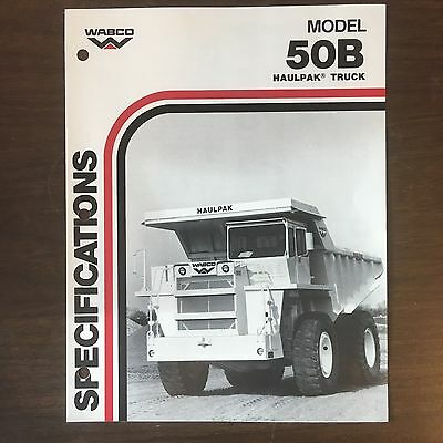 WABCO Haulpak 50B - Vintage Haul Truck Equipment Brochure Specs 1985