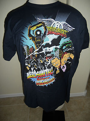 Aerosmith 2012 Global Warming Tour Album Cover Blue Mens XL T Shirt NEW