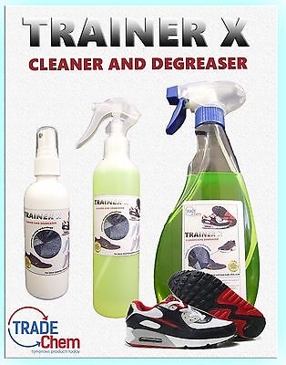 Trainer X Footwear Cleaner - Cleaner & Degreaser 125ml - 25L Trainers