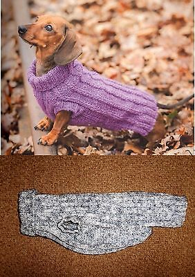 Hand Knitted Dachshund Dog Jumper Specially designed for the Miniature Dachshund