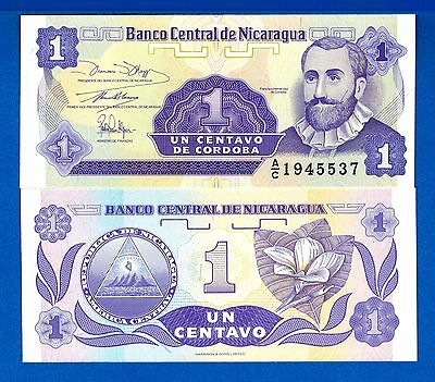 Nicaragua P-167 1 Centavo Year ND 1991 Uncirculated Banknote