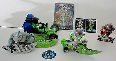 Planet Heroes Earth Ace With Fact Card Super Board,rocket Go- Kart,tiny,
