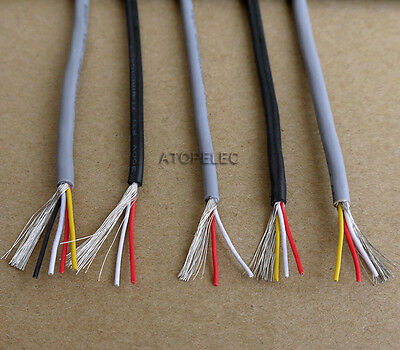 28AWG UL2547 PVC 2/3/4-Cores Shielded Signal Wire Headphone Cable Cord