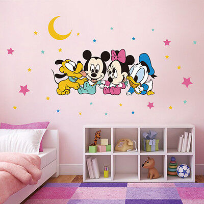 Disney baby Mickey mini Mouse Children Nursery Wall Sticker Star Decals