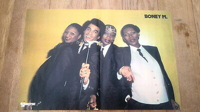 BONEY M 'suits' Centerfold magazine POSTER  16x10 inches