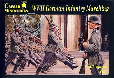 Caesar Deutsche Soldaten Marschieren German Soldiers Marching 1:72 WWII kit 2.WK