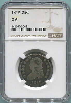 1819 Capped Bust Quarter, NGC G6