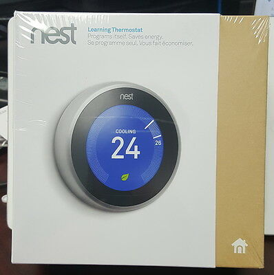 Brand New Sealed Nest 3rd Generation Wi-Fi Smart Thermostat T3007EF