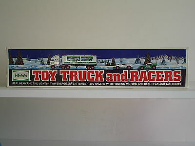 Hess 1997 Toy Truck And Racers ~~Friction Motor Race Cars~New In Box
