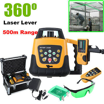 Self-leveling Rotary/ Rotating Green Laser Level Kit With Case 500M Range