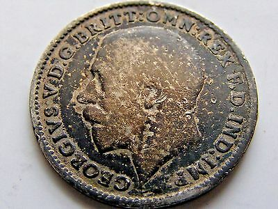 Nice toned 1916 Great Britain silver 3 Pence
