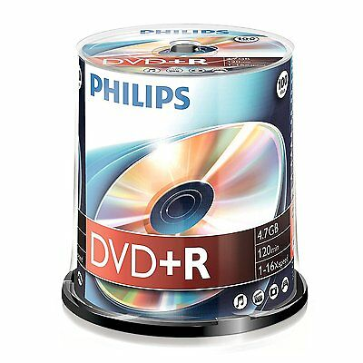 Philips DVD+R 100 pack Spindle - 120min - 4.7GB -1-16x speed