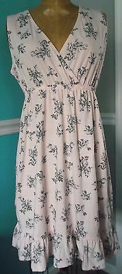 Motherhood Oh Baby Maternity Nursing Night Gown - Pink Floral - Size Small - Nwt