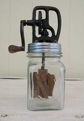 Dazey Butter Churn, 1 Pint, Antique Vintage Style Reproduction, Clean Lid