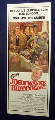 Brannigan 14X36 Original Unused Rolled Movie Poster Insert 1975 John Wayne