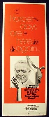 Drowning Pool 14X36 Rolled Movie Poster Paul Newman 1975 Insert