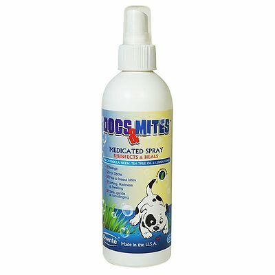 Medicated Spray Dogs & Mites Antifungal Itch Relief Skin Infection Hot Spot 8 OZ