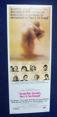 Once Is Not Enough 14X36 Original Rolled Movie Poster Insert 1975 Kirk Douglas